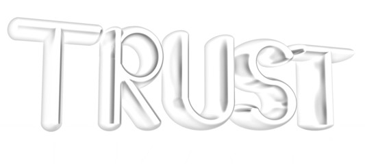 "3d text ""trust"". Pencil drawing"