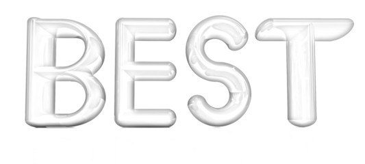 "3d text ""best"". Pencil drawing"