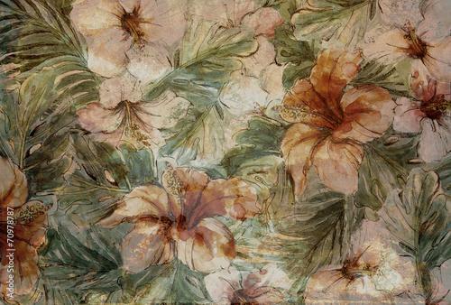 flowers wall - 70978787