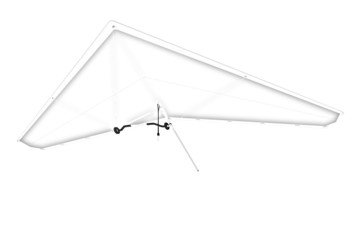 Hang glider. Pencil drawing