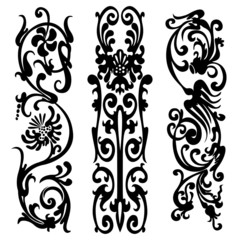 pattern silhouette black design  ornament motifs