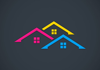 home realty colorful vector logo