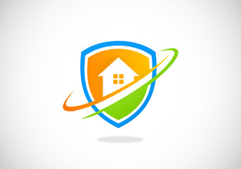 home shield protection vector logo