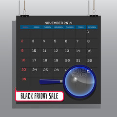 Black friday sale, November 2014 on a gray background