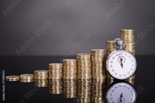 Time is money concept - 70981567
