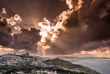 Sardegna, Palau, tramonto a Capo d'Orso