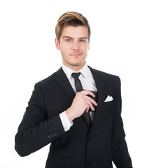 Confident Businessman Putting Wallet In His Pocket