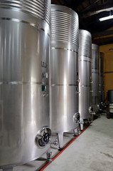 winery  and steel barrels