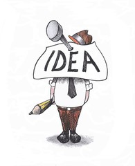 One idea in the head