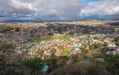 Panorama of Antananarivo city, Madagascar capital