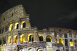 canvas print picture - Colosseum by night