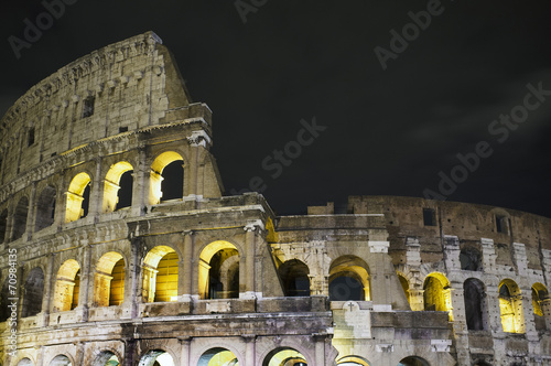 canvas print picture Colosseum by night