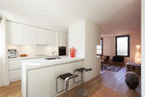 Interior of modern apartment furnished