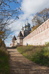 Russia. Monastery of Sts autumn.