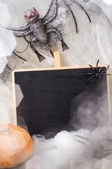 Halloween, Geister, Kürbis, Schild