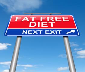 Fat free diet concept.