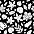Seamless background with leaves 2