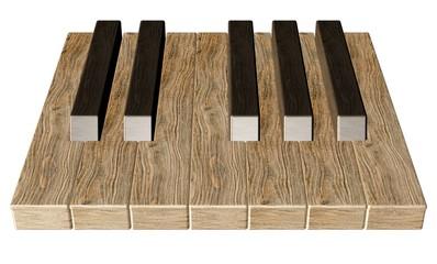 Klaviatur aus Holz