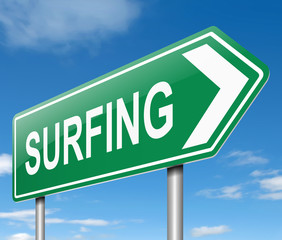 Surfing concept.