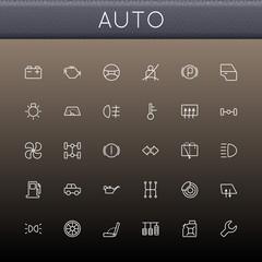 Vector Auto Line Icons
