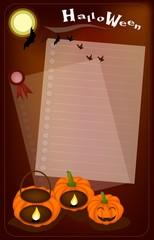 Jack-o-Lantern Pumpkins with Candle Light on Night Background