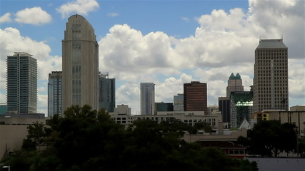 Orlando Fl Skyline Time lapse two times speed