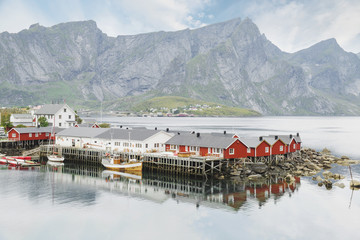 Fishing village in Lofoten, Norway