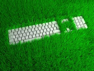 Super ergonomic keyboard for freelance. Conceptual illustration
