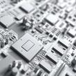Fantasy circuit board or mainboard or mother board.