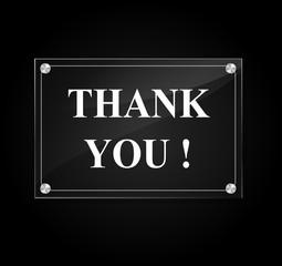 Vector thank you sign