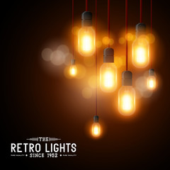 Vintage Vector Light bulbs