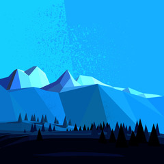 Low Poly Vector Mountain