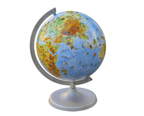 Globe. layout of the land