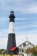 Black and White Tybee Lighthouse