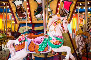 Colorful Horse on a Carousel