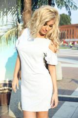 Sensual blonde girl posing