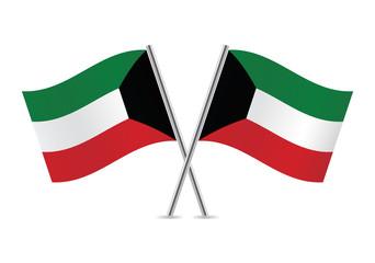Kuwait Flags. Vector illustration.