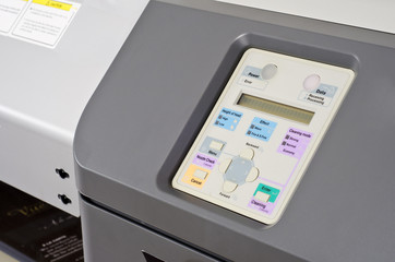 Werbetechnik Digital Drucker Bedienpanel