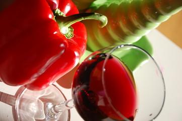 vino rosso peperone
