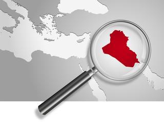 Landkarte *** Asien Iraq