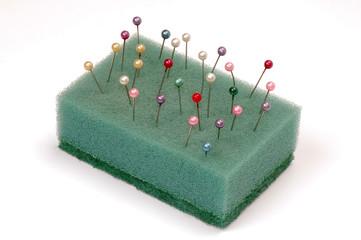 pins in sponge
