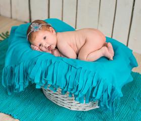 lovely newborn baby sleeps