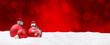 canvas print picture - Weihnachtshintergrund / Kugeln / Bokeh