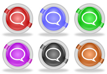 Discussion Chat Speech Bubble Web Icon Button