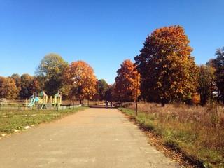 Прогулка в осеннем парке