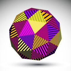Bright symmetric spherical 3D vector technology illustration, co