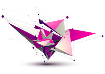 Magenta contemporary eps8 technology construction, abstract dime