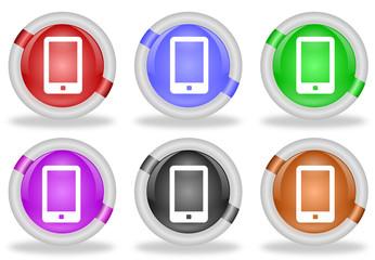 Touchscreen Smartphone Web Icon Button