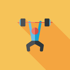 weightlifting flat icon with long shadow,eps10