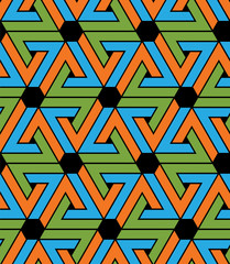 Geometric zigzag seamless pattern, endless ethnic vector backgro